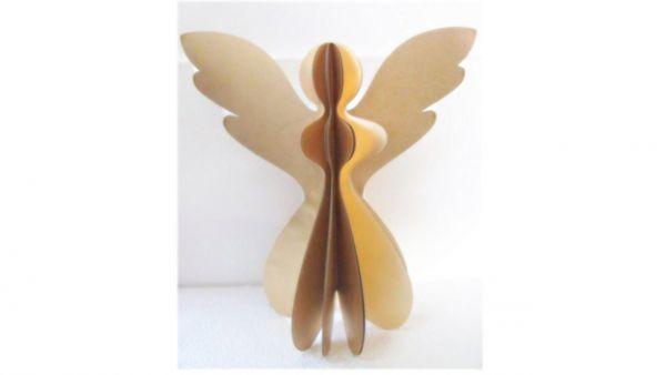 Papier-Engel gold mit Glitzer (45 cm) - Fairtrade
