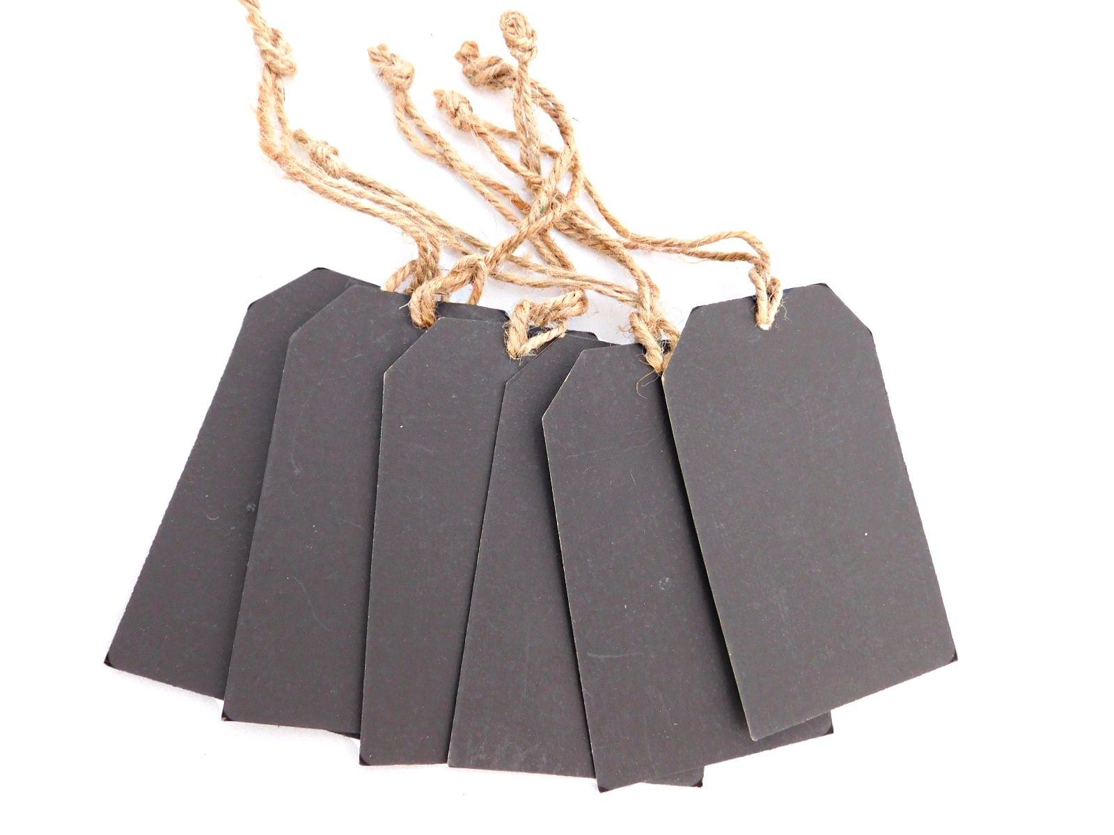 25 Stk Mini Tafel Schiefertafel Anhänger Hängeetiketten für Hochzeit Party