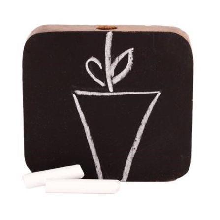 Vase-Kreidetafel aus Holz (S) - Fairtrade