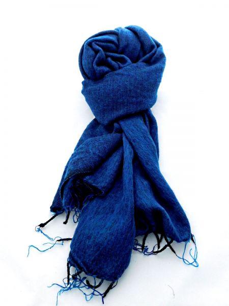 Melange-Schal blau - Fair Trade