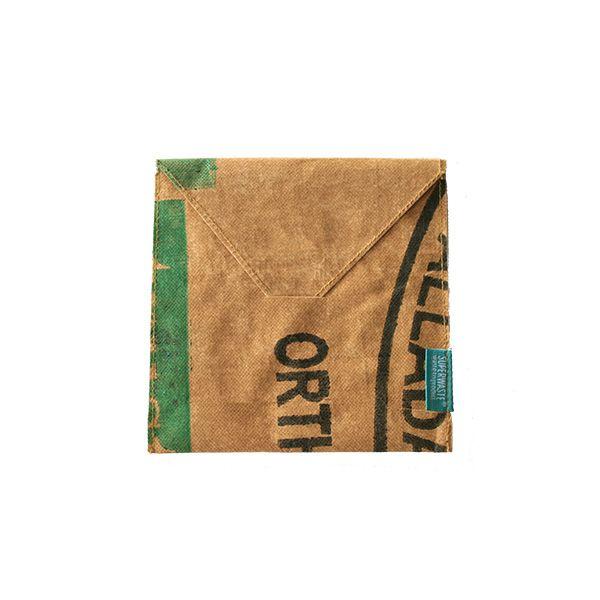 Briefumschlag quadratisch - wiederverwendbar - upcycling - fairtrade