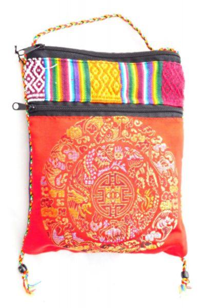 50 Beutel Zimttee in einer roten Tibetischen Tasche - Fairtrade