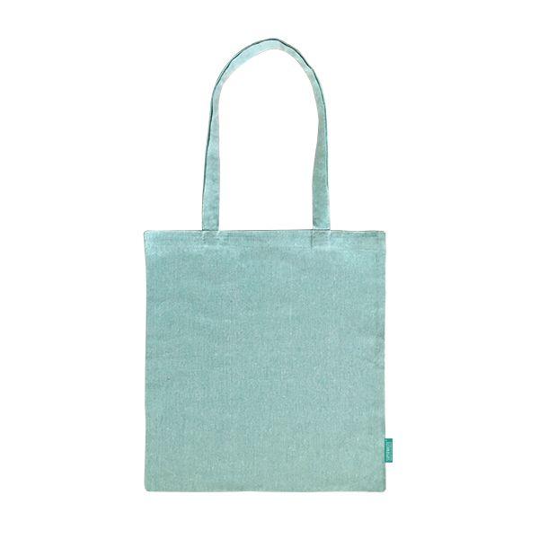 Recycelter Baumwoll-Shopper / Einkaufstasche minz-grün- upcycling - Fairtrade