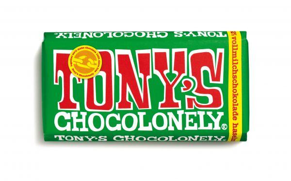 Tony´s Chocolonely - Vollmilchschokolade mit Haselnüssen - 180 Gramm - fairtrade