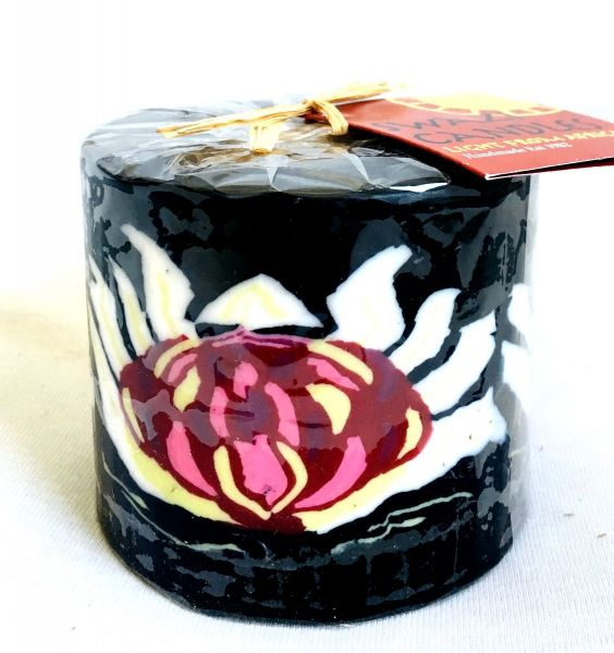 Stumpenkerze Protea Blume -Swasi Candle - Fairtrade