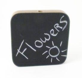 Vase-Kreidetafel aus Holz (M) - Fairtrade