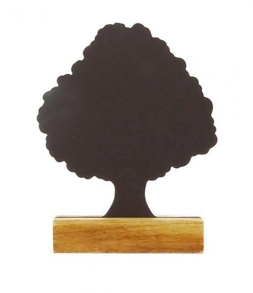Baum-Kreidetafel 25 cm mit Holzfuß - Fairtrade