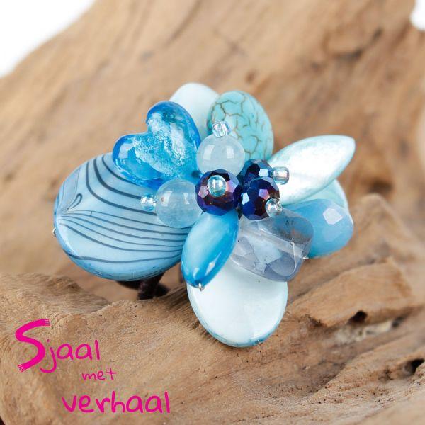 Ring blau - Fairtrade