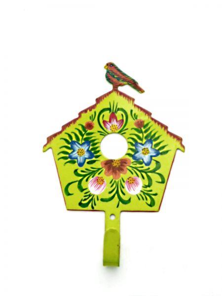Kleiderhaken Vogelhaus grün aus Metal- Fair Trade