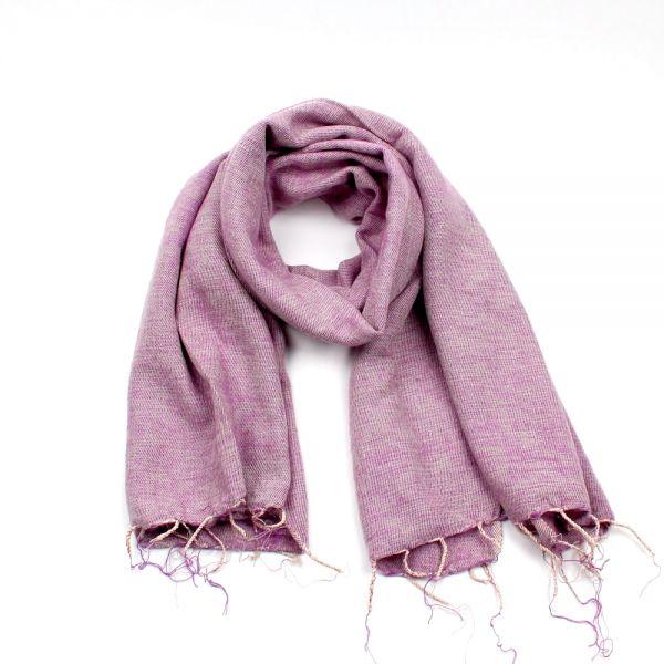 Melange-Schal hell lila - Fair Trade