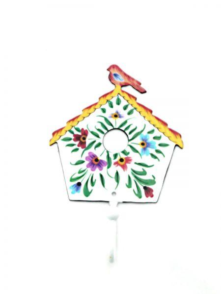 Kleiderhaken Vogelhaus weiß aus Metal- Fair Trade