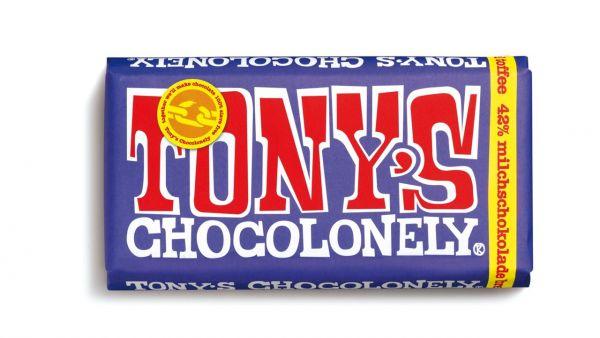 Tony´s Chocolonely - Dunkle Vollmilchschokolade 42% Brezel Toffee - 180 Gramm - fairtrade