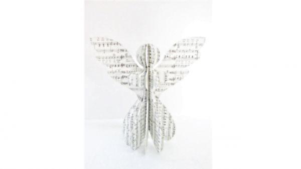 Papier-Engel Musik-Noten (30 cm) - Fairtrade