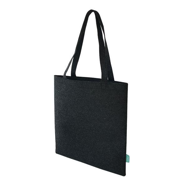 Recycelte PET Shopper / Einkaufstasche schwarz- upcycling - Fairtrade