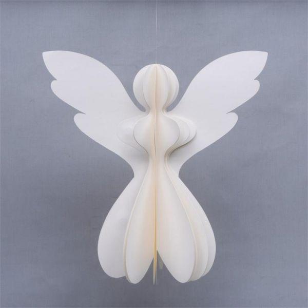 Papier-Engel Creme / Natur (45 cm) - Fairtrade