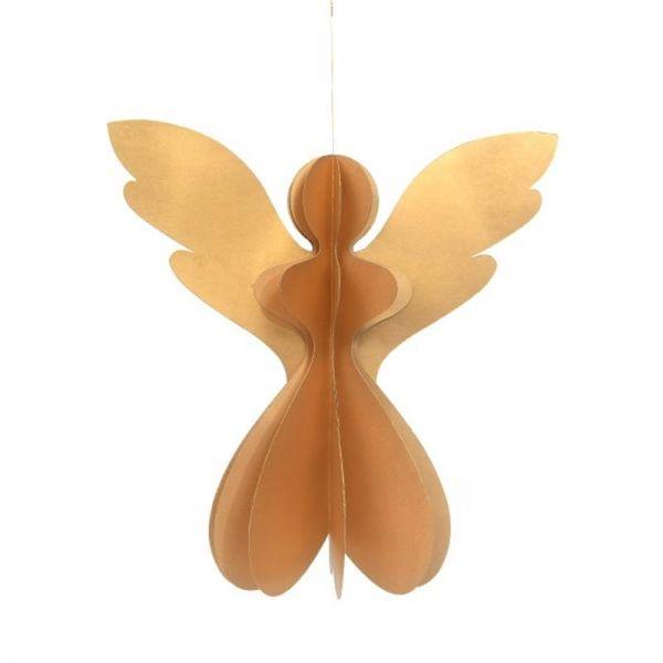 Papier-Engel gold mit Glitzer (30 cm) - Fairtrade