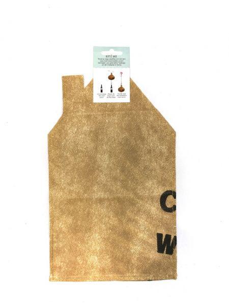 Flaschen-Vase-Hülle Dreieck-Giebelhaus - Fairtrade Upcycling