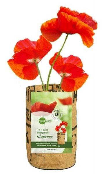 Let it grow - Klatschmohn Blumen - Fairtrade Upcycling