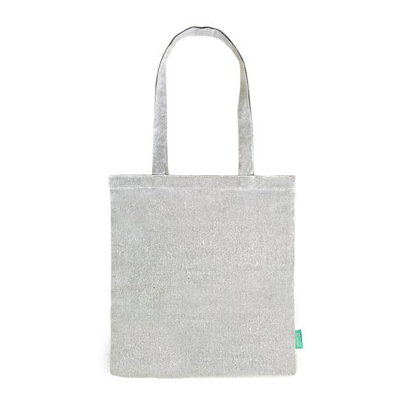 Recycelter Baumwoll-Shopper / Einkaufstasche hell-grau- upcycling - Fairtrade