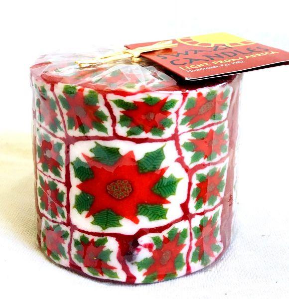 Stumpenkerze Weihnachtsblume -Swasi Candle - Fairtrade