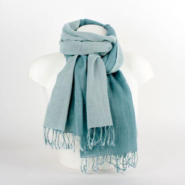 Tuch Schlauchschal Loop aus Baumwolle (2-farbig) grün - Fairtrade
