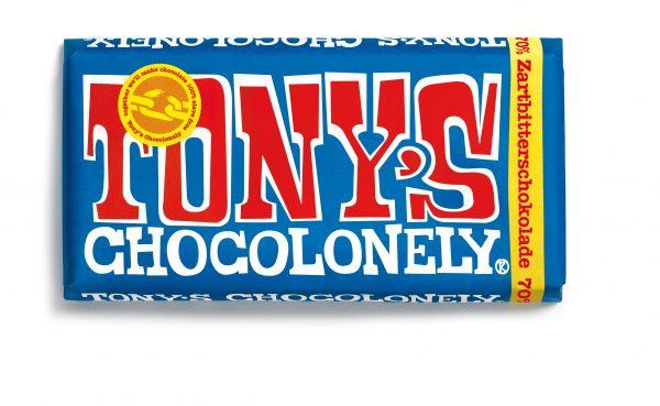Tony´s Chocolonely - Zartbitter-Schokolade - 70% kakao - 180 Gramm - fairtrade